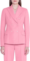 Akris Double-Breasted Wool Crepe Jacket