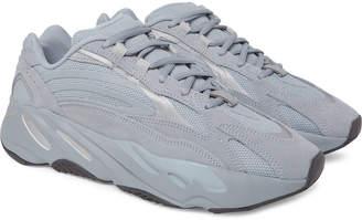 adidas Yeezy Boost 700 V2 Nubuck, Leather And Mesh Sneakers
