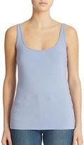 Lord & Taylor Iconic Fit Slimming Scoopneck Tank