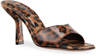 Schutz Posseni Leopard-Print Slide Sandals