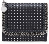 Stella McCartney black small falabella shaggy deer wallet