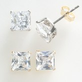Swarovski Renaissance Collection Two Tone 3-ct. T.W. Princess Earring Set - Made with Zirconia