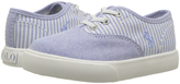 Polo Ralph Lauren Light Blue Stripe Vali Gore Oxford Sneaker - Toddler