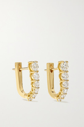 Melissa Kaye Aria U Huggie 18-karat Gold Diamond Earrings - one size