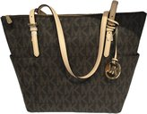 Michael Kors East West Signature Top Zip PVC Tote