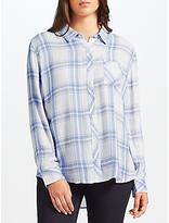 Rails Hunter Check Shirt, White Melange/Sky