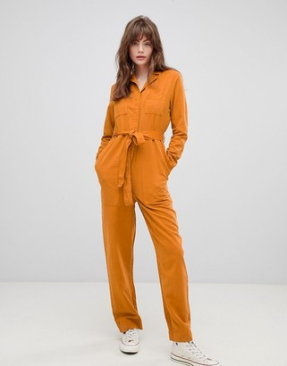 Kings Of Indigo tie up jumpsuit-Yellow