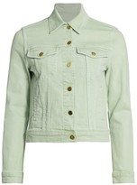 Frame Le Vintage Cropped Denim Jacket