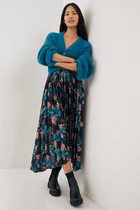 MISA Danika Pleated Maxi Skirt By in Assorted Size L
