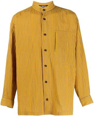 Issey Miyake Pre Owned 1980s Mandarin Collar Striped Shirt