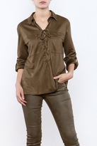 Umgee USA Faux Suede Blouse