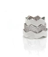 Eddie Borgo Stackable Silver Zigzag Rings
