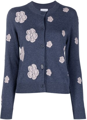 Barrie Floral-Embroidered Cardigan