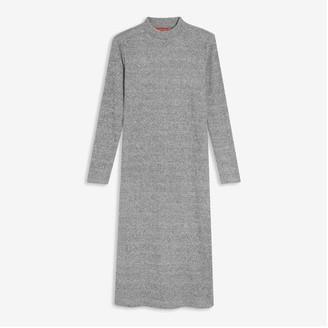 Joe Fresh Women's Mock Neck Dress, Light Grey Mix (Size XS)