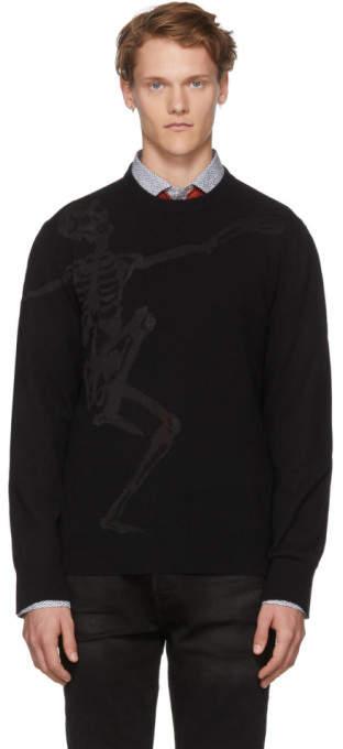 Alexander McQueen Black Dancing Skeleton Sweater