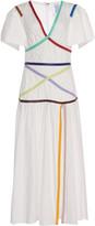 Rosie Assoulin Criss Cross Applesauce Cotton Maxi Dress