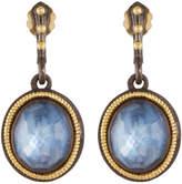Armenta Old World Two-Tone Triplet Drop Earrings
