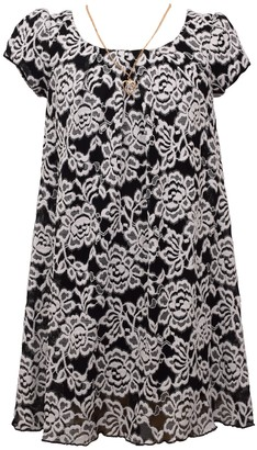 Bonnie Jean Girl's 7-16 Embroidered Mesh Float Dress