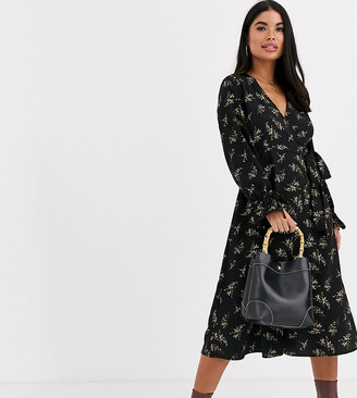 Y.A.S Auho puff sleeve wrap dress