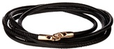 Luis Morais Rose-gold And Leather Bracelet