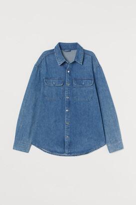 H&M Denim Shirt Jacket - Blue