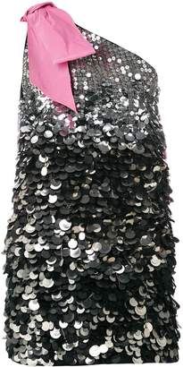 No.21 sequin one-shoulder dress