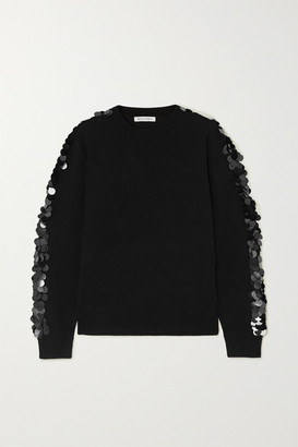 Bella Freud Lady Day Paillette-embellished Wool Sweater - Black