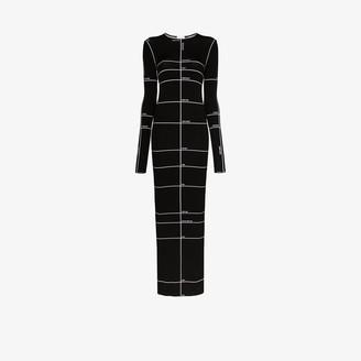 Vetements Body Measurements Print Maxi Dress