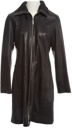 Sita Murt Black Leather Coat for Women