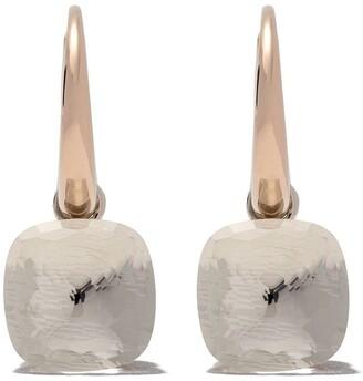 Pomellato 18kt rose & white gold Nudo white topaz earrings