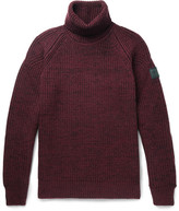Belstaff Barnstead Ribbed Mélange Wool Rollneck Sweater