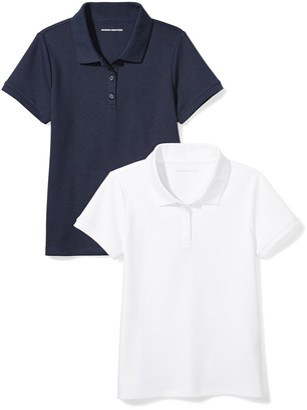 Amazon Essentials Big Girls' Uniform Interlock Polo