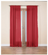 HOME Unlined Voile Panels - 152x228cm - Red