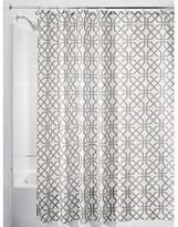 """InterDesign Trellis Fabric Shower Curtain - Stall 54"""" x 78"""", Stone Gray/White"""