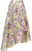DELPOZO print draped midi skirt