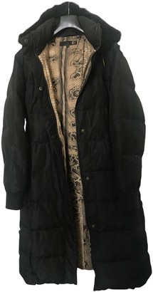 Just Cavalli Black Silk Coat for Women