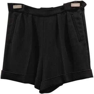 Balenciaga Black Viscose Shorts