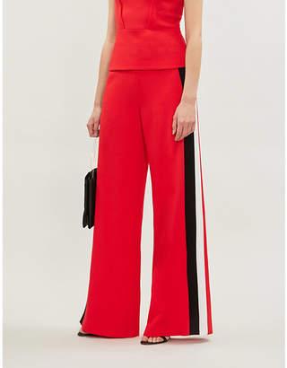Roland Mouret Cumberland high-rise side-stripe wool wide-leg trousers