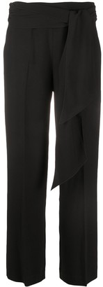 Seventy Pleat Detail Tie Waist Tailored Trousers