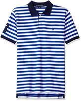 U.S. Polo Assn. Men's Striped Classic Fit Pique Shirt