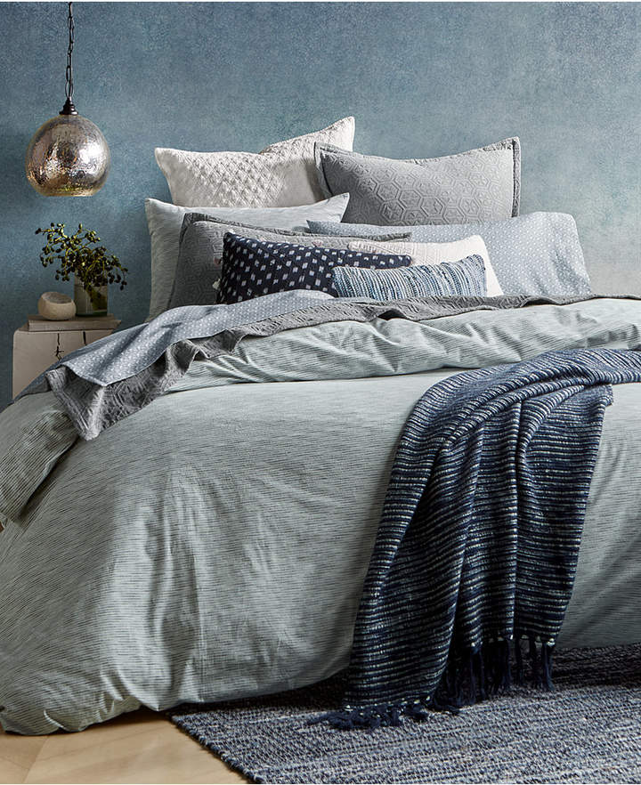 Lucky Brand Closeout! Santa Fe Stripe Reversible Twin Duvet Cover Set, Created for Macy's Bedding