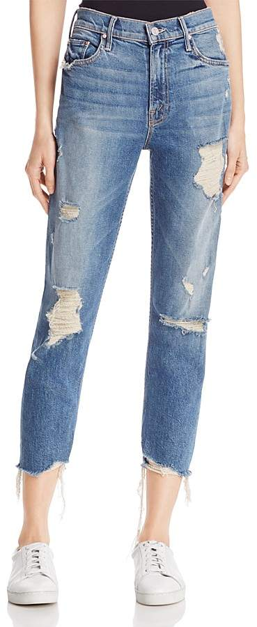 Mother Distressed Sinner Jeans in Ice Cream, You Scream