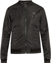 Dolce & Gabbana Crown-embroidered nylon bomber jacket