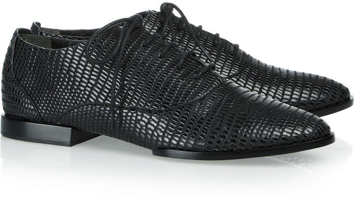 Alexander Wang Ingrid lizard-embossed leather Oxford brogues