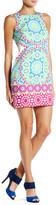 London Times Flower Tile Sleeveless Shift Dress (Petite)