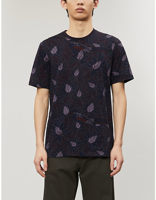 Ted Baker Botanical print cotton-jersey T-shirt