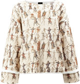 Undercover medieval illustration print jumper