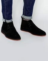 Asos Desert Boots In Black Suede