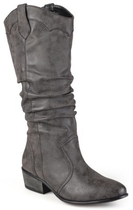 Brinley Co. Women's Faux Leather Slouch Riding Boots