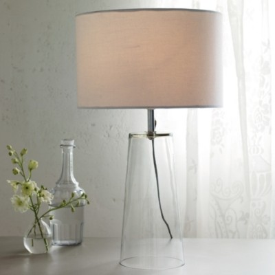 The White Company Bowery Table Lamp, Clear, One Size